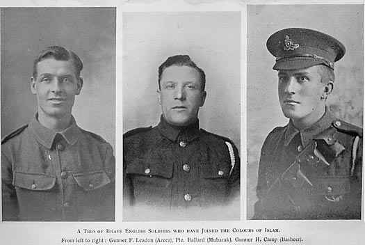 WWI was a turning point in relations between East and West. The slaughter among Christian nations disillusioned many, including these three British soldiers who